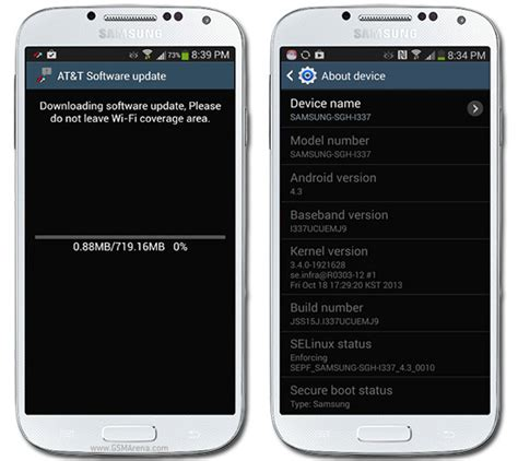 android update galaxy s4 samsung galaxy s4 for at t receiving android 4 3 update gsmarena news
