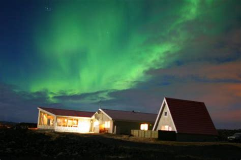 northern light inn iceland northern lights above hotel picture of northern light