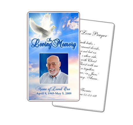 prayer card template publisher peace large prayer card template with preprinted title