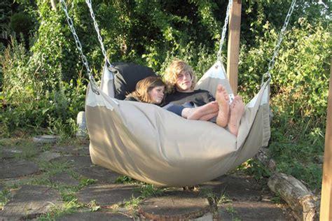 a bean baghammock hybrid beanbag hammock chair things