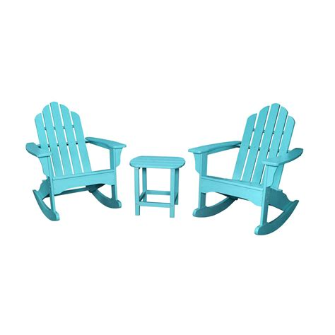 adirondack chair and table set with umbrella hanover 3 adirondack rocking chair set with 2