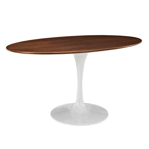 Oval Walnut Dining Table Odyssey 60 Quot Oval Walnut Modern Dining Table Eurway