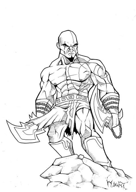 imagenes de kratos para dibujar faciles kratos by mauriart on deviantart