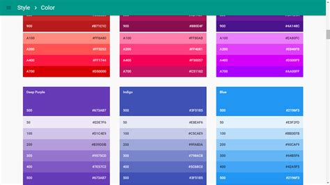 matrial color create a material color palette in no time