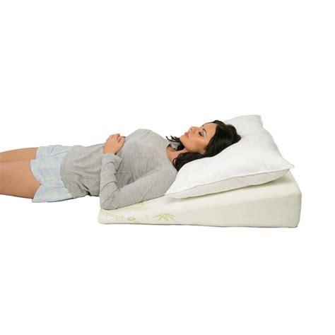 sleep better bed wedge pillow deluxe comfort better sleep bamboo wedge 31 quot x 25 5 quot x