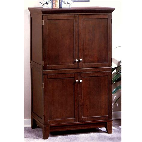 Modern Desk Armoire with Contemporary Computer Hutch Office Furniture