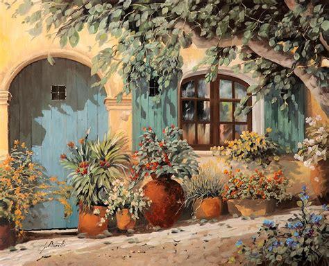 porta azzurra la porta azzurra painting arte guido borelli