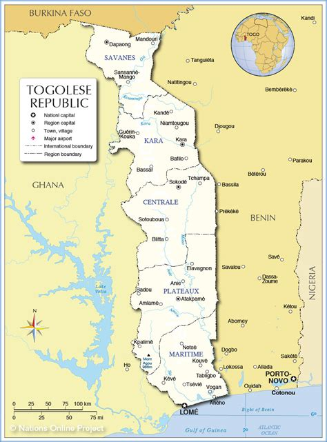 political map of togo map of togo republic