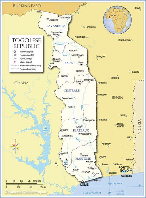 africa map togo map of togo republic