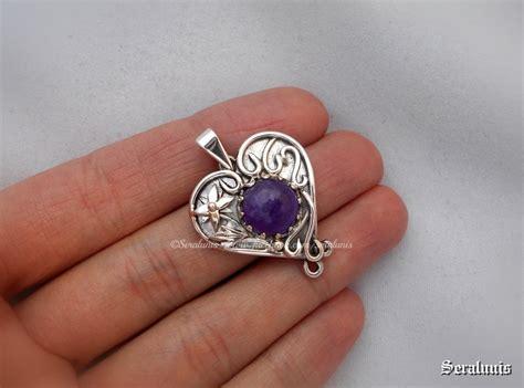 Handmade Sterling Silver Pendants - fairies handmade sterling silver pendant by