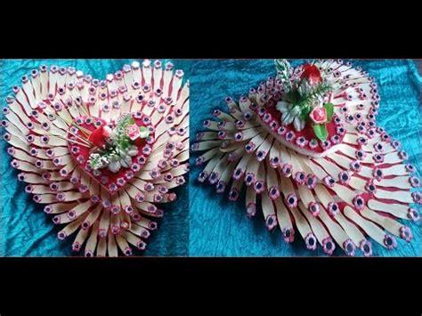 Home Decorative Heart Shape With Ice Cream Sticks Diy Youtube   home decorative heart shape with ice cream sticks diy