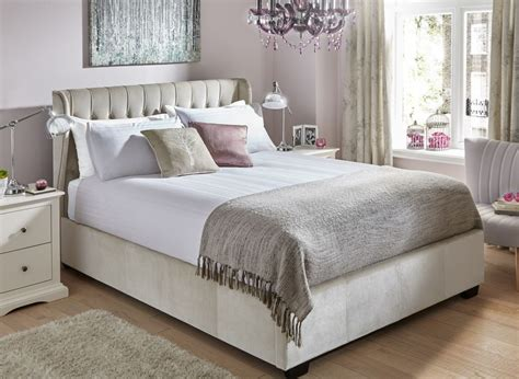 Dreams Bedroom Furniture Uk Sana Pearl Fabric Ottoman Bed Frame