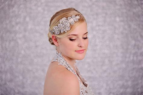 Rhinestone Headpiece bridal silver rhinestone headpiece