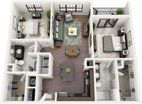 sims 3 apartment floor plans 50 plans 3d d appartement avec 2 chambres