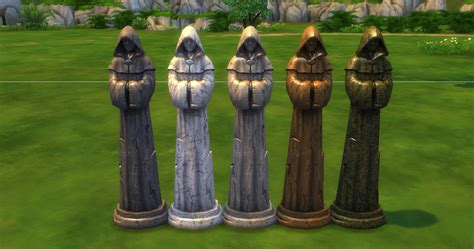 medieval sims 4 ts4 download medieval statues sims in the woods
