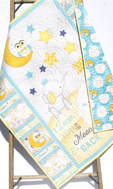 i you to the moon and back nursery decor baby quilt i you to the moon and back boy or crib