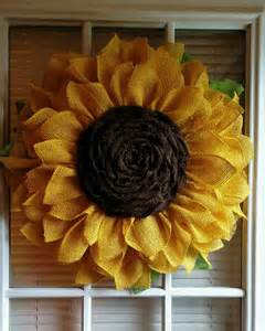 Burlap Sunflower Wreath Sunflower Wreath Burlap By Jfprettylittlethings On Etsy