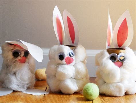 Toilet Paper Roll Bunny Craft - 62 easy easter craft ideas for personal creations