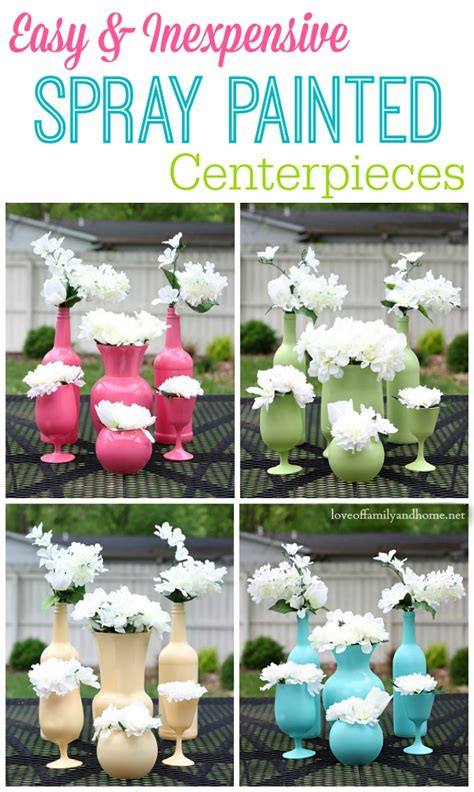Delightful Theme For Family And Friends Day At Church #7: Easy-Inexpensive-Spray-Painted-Centerpieces.jpg
