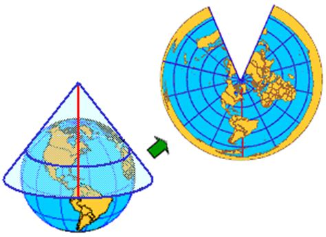 conic map get to a projection lambert conformal conic wired