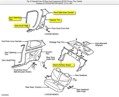 Toyota Echo P0420 2001 Toyota Rear Seat Removal