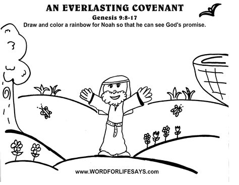 abraham covenant coloring page an everlasting covenant sunday school lesson genesis 9