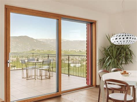 Panoramic Sliding Patio Doors Alzante Scorrevole Pvc Legno Alluminio Lignatec Porta