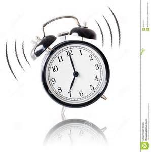 Alarm Clock Alarm Clock Ringing On White Background Stock Photo