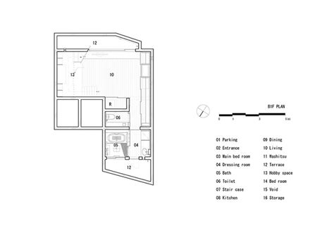 basement floor plans with stairs in middle movedesign house in nanakuma features layered staircase