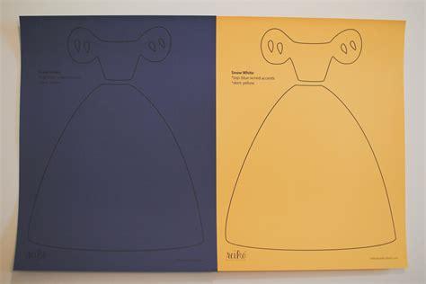 Dresses Templates by Disney Princess Dress Paper Templates Reiko Handcrafted