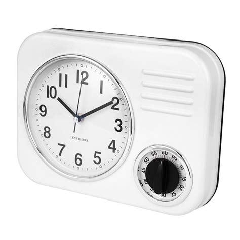 Retro Kitchen Clocks Uk by Lene Bjerre Clotille Kitchen Wall Clock White Black By