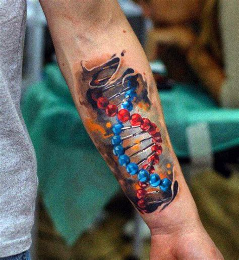 colored tattoos for guys 25 best ideas about dna on science