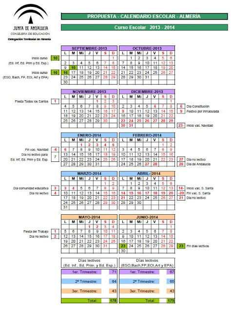 calendarios escolares de andaluc 237 a y resto ccaa actiludis