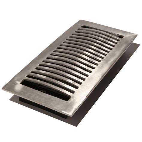 4 X 12 Floor Register by Decor Grates 4 In X 12 In Steel Floor Register With Der Box St412 The Home Depot