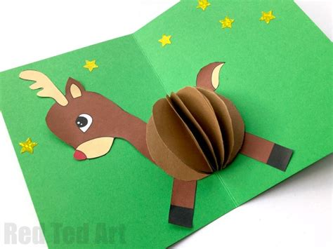 pop up reindeer card template 3d reindeer card diy ted s