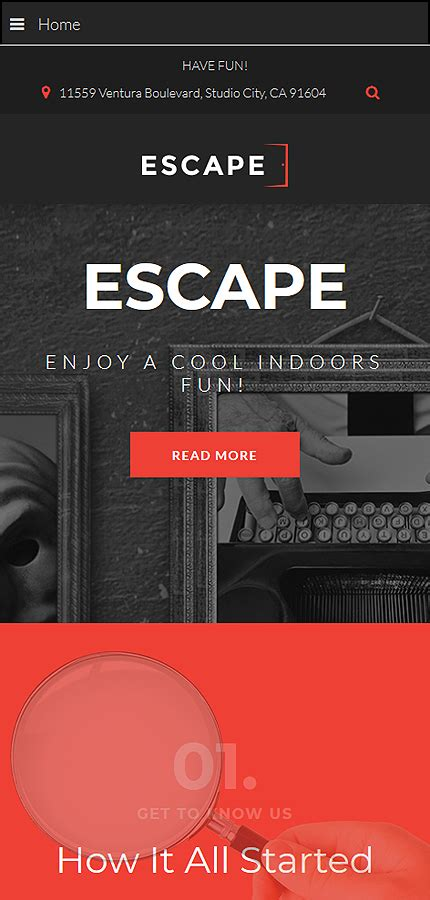 Escape Escape Room Joomla Template Escape Room Website Template