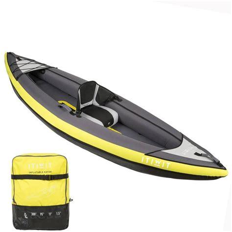 inflatable boat decathlon 1 man inflatable kayak 2017 yellow decathlon