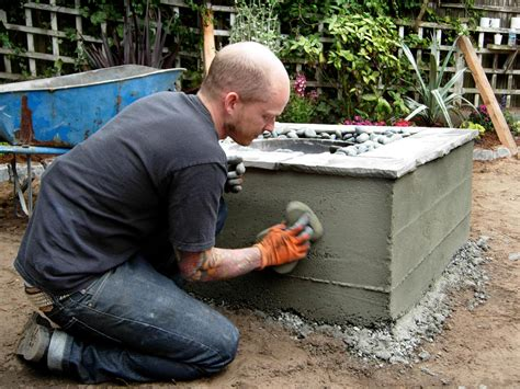 how to make concrete pit how to make a concrete feature how tos diy