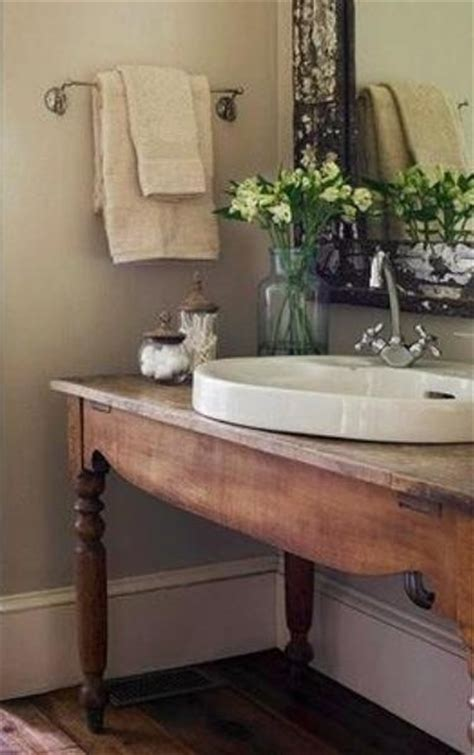 Bathroom Vanity Table To Da Loos Wood Tables As Bathroom Vanities