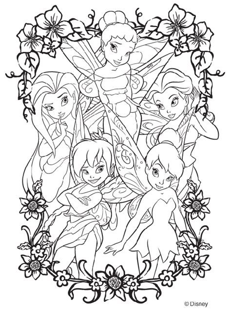 Color By Disney by Disney Fairies Coloring Page Crayola Com