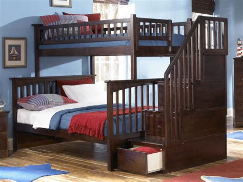 bunk beds staircase columbia staircase bunk bed atlantic furniture