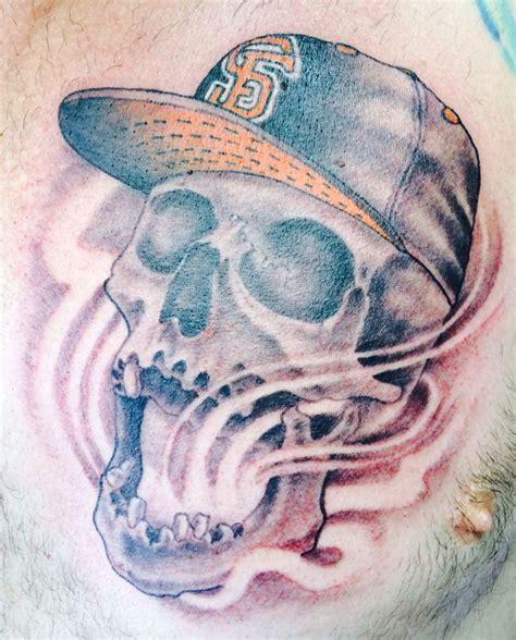 12 monkeys tattoo sf giants skull by nephtali quot lefty quot brugueras jr 12