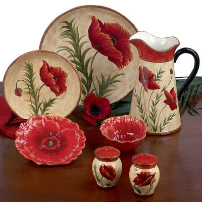 red poppy dinnerware by pier 1 everything else but