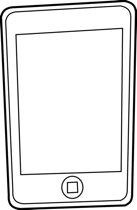 187 Iphone Black White Line Art Scalable Vector Graphics Svg Iphone Coloring Page