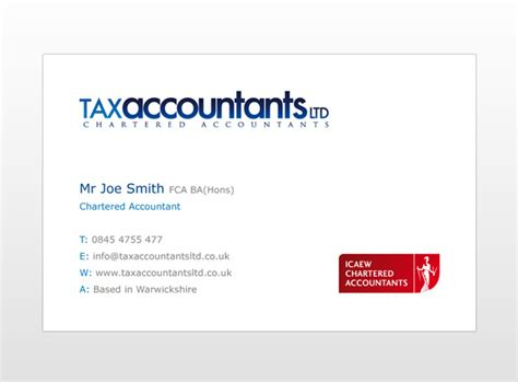 chartered accountant business card template tax accountants ltd business card design custel design