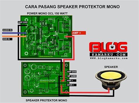 Speaker Protektor cara memasang speaker protector pada power mono dan stereo