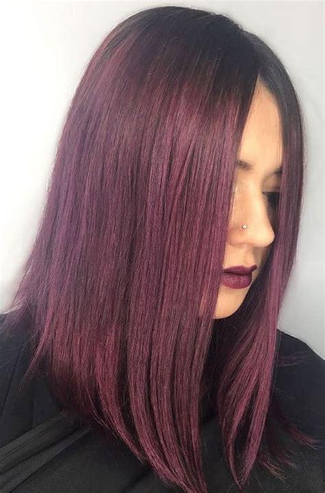 Plumb Hair Colour by Plum Hair Color Shades Www Pixshark Images