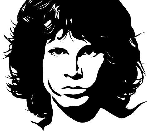 vector graphic jim morrison portrait man face