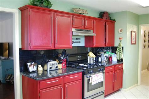 painting kitchen cabinets red color ideas painting kitchen cabinets decosee com