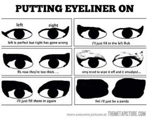 Eyeliner Meme - 8 pretty and funny makeup memes comediva